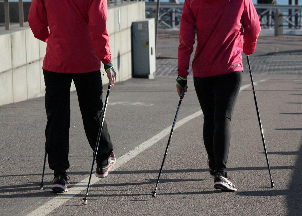 nordic walking, summer, fitness
